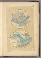 Cincinnati & Vicinity. Louisville Jeffersonville & Vicinity. London ... & according to an act of Congress ... 1857, by H.D. Rogers ... Massachusetts. London, John Murray, Albemarle Street, Edinburgh, W. & A.K. Johnston. Engraved by W. & A.K. Johnston, Edinburgh.