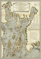 A Topographical Chart of the Bay of Narraganset in the Province of New England, with all the Isles contained therein, among which Rhode Island and Connonicut have been particularly Surveyed, Shewing the true position & bearings of the Banks, Shoals, Rocks &c. as likewise the Soundings: To which have been added the several Works & Batteries raised by the Americans. Taken by Order of the Principal Farmers on Rhode Island, By Charles Blaskowitz. Engraved & Printed for Wm. Faden, Charing Cross, as the Act directs, July 22d 1777. To the Right Honourable Hugh Earl Percy, Baron Percy, Lucy, Poinings, Fitz-Paine, Bryan & Latimer, Lieutenant General of His Majesty's Forces in Great Britain and America. This Plan is ... most humbly Inscribed, by ... Wm. Faden. (in manuscript) Hinck S.