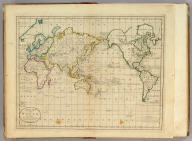 A Chart of the World According to Mercators Projection, Shewing the latest Discoveries of Capt. Cook.