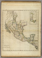 Mexico or New Spain. (with) inset map of southern Mexico and Central America.