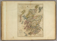 Scotland with the Principal Roads from the best Authorities. (with) inset map of the Shetland Isles.