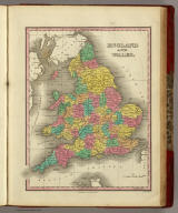 England And Wales. Published by A. Finley Philada. Young & Delleker Sc.