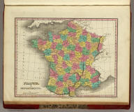 France, in Departments. Published by A. Finley Philada. Young & Delleker Sc.