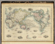 The World On Mercator's Projection. The Illustrations by H. Warren & Engraved by J.B. Allen. The Map Drawn & Engraved by John Rapkin.