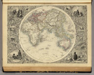 Eastern Hemisphere. The Illustrations by H. Warren & Engraved by J. Rogers. The Map Drawn & Engraved by John Rapkin.