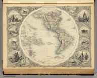 Western Hemisphere. The Illustrations by H. Warren & Engraved by J. Rogers. The Map Drawn & Engraved by John Rapkin.