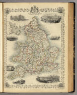 England and Wales. The Illustrations by N. Whittock & Engraved by J. Rogers. The Map Drawn & Engraved by J. Rapkin.