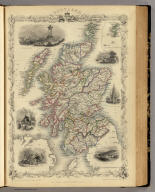 Scotland. (with) inset map of the Shetland Islands. The Illustrations by N. Whittock & Engraved by J. Rogers. The Map Drawn & Engraved by J. Rapkin.
