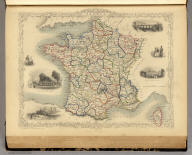 France. The Illustrations by J. Wray & Engraved by J. Rogers. The Map Drawn & Engraved by J. Rapkin.