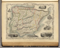 Spain and Portugal. The Illustrations by N. Whittock & Engraved by J. Rogers. The Map Drawn & Engraved by J. Rapkin.