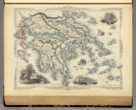 Greece. (with) inset maps of Corfu and Stampalia. The Illustrations by A.H. Wray & Engraved by J.B. Allen. The Map Drawn & Engraved by J. Rapkin.