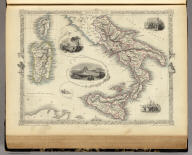 Southern Italy. The Illustrations by A.H. Wray & Engraved by J. Rogers. The Map Drawn & Engraved by J. Rapkin.