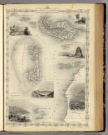 Islands In The Atlantic. The Illustrations Drawn & Engraved by H. Winkles. The Map Drawn & Engraved by J. Rapkin.
