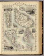 British Possessions In The Mediterranean. The Illustrations Drawn & Engraved by H. Winkles. The Map Drawn & Engraved by J. Rapkin.
