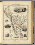 Southern India Including The Presidencies Of Bombay & Madras. The Illustrations by A.H. Wray & Engraved by J.H. Kernot. The Map Drawn & Engraved by J. Rapkin.