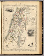 Modern Palestine. The Illustrations by H. Warren & Engraved by R. Baker. The Map Drawn & Engraved by J. Rapkin.