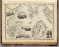 Islands In The Indian Ocean. (with) inset map of Mauritius. The Illustrations Drawn & Engraved by H. Winkles. The Map Drawn & Engraved by J. Rapkin.