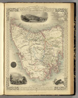 Van Diemen's Island or Tasmania. The Illustrations by H. Warren & Engraved by J. Rogers. The Map Drawn & Engraved by J. Rapkin.