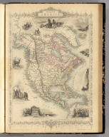 North America. The Illustrations by J. Marchant & Engraved by J. Rogers. The Map Drawn & Engraved by J. Rapkin.