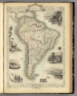 South America. The Illustrations by J. Marchant & Engraved by J. Rogers. The Map Drawn & Engraved by J. Rapkin.