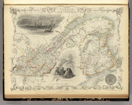 East Canada And New Brunswick. The Illustrations by H. Warren & Engraved by J.B. Allen. The Map Drawn & Engraved by J. Rapkin.