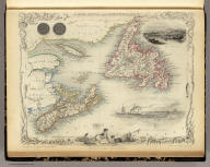 Nova Scotia And Newfoundland. The Illustrations by A. Fussell & Engraved by J. Rogers. The Map Drawn & Engraved by J. Rapkin.