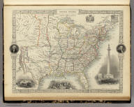 United States. The Illustrations by J. Marchant & Engraved by J. Rogers. The Map Drawn & Engraved by J. Rapkin.