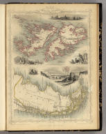 Falkland Islands And Patagonia. The Illustrations by H. Winkles & Engraved by W. Lacey. The Map Drawn & Engraved by J. Rapkin.