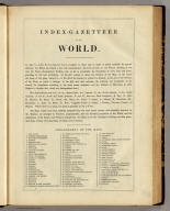 (Index to) The Illustrated Atlas, And Modern History Of The World Geographical, Political, Commercial & Statistical, Edited By R. Montgomery Martin, Esq. ... The Maps Drawn & Engraved By J. Rapkin. H. Warren. J. Rogers. J. & F. Tallis, London & New York.
