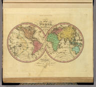A New Map Of The World on the Globular Projection By H.S. Tanner. Philadelphia. Published by H.S. Tanner 1833. Engd. by E.B. Dawson. Tanner's Universal Atlas.