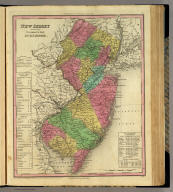 New Jersey Reduced From T. Gordon's Map By H.S. Tanner. J. Knight Sc. Entered ... 1833 by H.S. Tanner ... Pennsylvania. Published by H.S. Tanner, Philadelphia. (above neat line) Tanner's Universal Atlas.