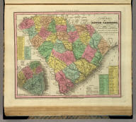 A New Map Of South Carolina With Its Canals, Roads & Distances from place to place, along the Stage & Steam Boat Routes. by H.S. Tanner. (with) Charleston. Engraved by J. & W.W. Warr. Entered ... 1833 by H.S. Tanner ... Pennsylvania. Published by H.S. Tanner, No. 144 Chesnut St. Philadelphia. (above neat line) Tanner's Universal Atlas.