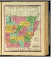 A New Map Of Arkansas with its Canals, Roads & Distances by H.S. Tanner. Entered ... 1833 by H.S. Tanner ... Pennsylvania. Published by H.S. Tanner Philadelphia. (above neat line) Tanner's Universal Atlas.