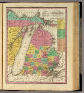 A New Map Of Michigan with its Canals, Roads & Distances: By H.S. Tanner. Engd. by E.B. Dawson. Entered ... 1833 by H.S. Tanner ... Pennsylvania. Published by H.S. Tanner, Philadelphia. (above neat line) Tanner's Universal Atlas.