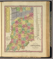 A New Map Of Indiana with its Roads & Distances. by H.S. Tanner. Engrav'd by J. Knight. Entered ... 1833 by H.S. Tanner ... Pennsylvania. Philadelphia, Published by H.S. Tanner. (above neat line) Tanner's Universal Atlas.