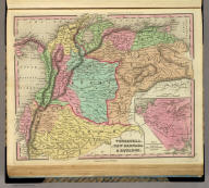 Venezuela, New Grenada & Equador. (with) Plan of a Proposed Communication Between the Atlantic & Pacific Oceans. J. Knight Sc. Published by H.S. Tanner Philadelphia. (above neat line) Tanner's Universal Atlas.