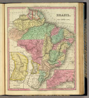 Brazil. (with) two inset maps: Paraguay and Environs of Rio Janeiro. Published by H.S. Tanner, Philadelphia. (above neat line) Tanner's Universal Atlas.