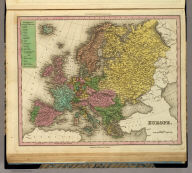 Europe. Engrav'd by E.B. Dawson. Philadelphia: Published by H.S. Tanner. (above neat line) Tanner's Universal Atlas.