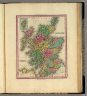 Scotland. (with) The Shetland Isles. Engraved by J. & W.W. Warr. Philadelphia, Published by H.S. Tanner. (above neat line) Tanner's Universal Atlas.