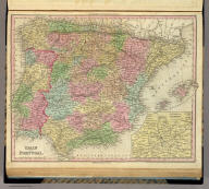 Spain And Portugal. (with) Environs of Madrid. Philadelphia: Published by H.S. Tanner. Entered ... 1836, by H.S. Tanner ... Pennsylvania. (above neat line) Tanner's Universal Atlas.