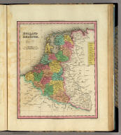 Holland And Belgium. Engraved by J. & W.W. Warr. Philadelphia, Published by H.S. Tanner. (above neat line) Tanner's Universal Atlas.