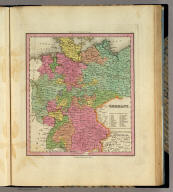 Germany. Engraved by J. & W.W. Warr. Philadelphia: Published by H.S. Tanner. (above neat line) Tanner's Universal Atlas.