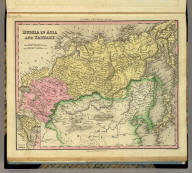 Russia In Asia and Tartary. (with) Western Part Of Russia. Engraved by J. & W.W. Warr. Published by H.S. Tanner, Philadelphia. (above neat line) Tanner's Universal Atlas.