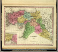 Turkey In Asia. (with) Environs Of Constantinople. Engraved by J. & W.W. Warr. Philadelphia Published by H.S. Tanner. (above neat line) Tanner's Universal Atlas.