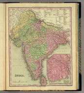 India. (with) Delta Of The Ganges. Engraved by J. & W.W. Warr. Published by H.S. Tanner Philadelphia. (above neat line) Tanner's Universal Atlas.