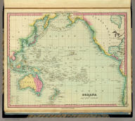 Oceana Or Pacific Ocean. Published by H.S. Tanner, Philadelphia. (above neat line) Tanner's Universal Atlas.