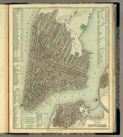 City Of New York. Philadelphia Published by H.S. Tanner. Entered ... 1835, by Henry S. Tanner ... Pennsylvania. (above neat line) Tanner's Universal Atlas.