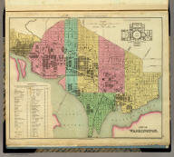 City of Washington. Published by H.S. Tanner, Philadelphia. Entered ... 1836, by H.S. Tanner ... Pennsylvania. (above neat line) Tanner's Universal Atlas.
