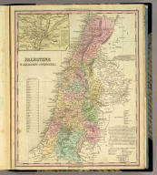 Palestine & Adjacent Countries. (with) Environs of Jerusalem. Published by H.S. Tanner, Philadelphia. Entered ... 1836, by H.S. Tanner ... Pennsylvania. (above neat line) Tanner's Universal Atlas.