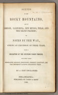 Title Page: Scenes in the Rocky Mountains.